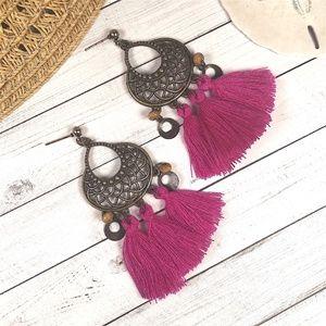 Jewelry - Vintage Boho Tassel Earrings